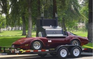 Corvette made into barbecue smoker