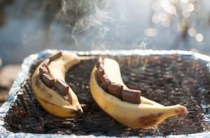 You're Next BBQ Dessert is Here: Chocolate Stuffed Bananas.